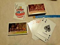 Vtg Clydesdales Plastic Coated Playing Cards Carriage ~ COMPLETE ~ Ships FREE