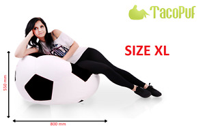 TacoPuf SOCCERBALL XL (EXTRA LARGE 550x800 ) BEANBAG WATERPROOF HOME GARDEN GIFT