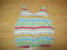"""16-18"""" CPK Cabbage Patch Kids TAN STRIPE KNIT SWIMSUIT W/ colored stripes"""
