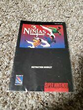 SNES 3 Ninjas Kick Back Manual. Authentic. Complete.