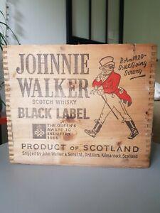 Caisse En Bois Johnny Walker BLACK LABEL Scotch Whisky BLACK 1966