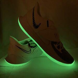 Nike Men's Kyrie Low 3 GLOW Eclipse Basketball Shoes White CJ1286-100 Size 18