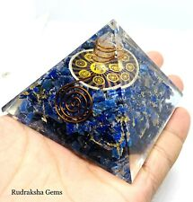 LARGE REIKI ENERGY CHARGED LAPIS LAZULI HEALING CRYSTAL ORGONE ORGONITE PYRAMID
