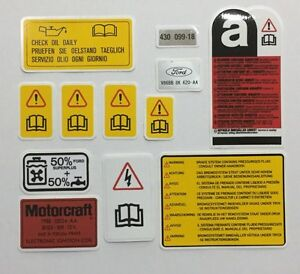 Ford Sierra RS Cosworth 3dr & RS500 Engine Bay Decals, stickers, best available