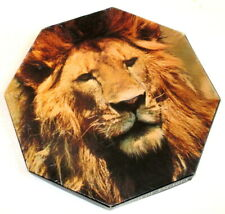 VINTAGE Springbok Octagon Puzzle King of Beasts African Lion 500 Piece Excellen