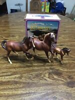 Breyer ULTRA RARE CHALKY? Classic #3055 Arabian Family From the 70's, w/ BOX