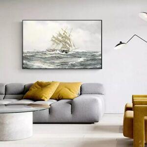 Seascape Pop Sea Ship Beyond The Ocean No1 Art Gift Wall Decor Poster, no Framed