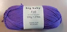 Patons Big Baby 8 Ply #2657 Hyacinth 100g Acrylic