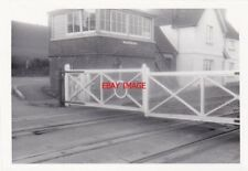 PHOTO  FORD BRIDGE SIGNAL BOX AND LEVEL CROSSING 20-4-75