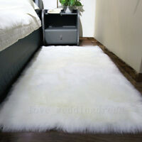 Faux Fur Shaggy Sheepskin Area Rug Soft Carpet Sofa Bedroom Balcony Mat Pad Rugs