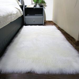 Balcony Large Faux Fur Rug Cozy Sofa Pad Bedroom Mats Sheepskin Area Rugs Carpet