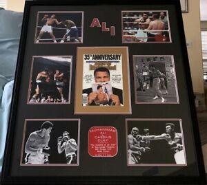 Muhammad Ali signed autographed 1989 SI cover custom framed w/ 6 8x10 photos JSA