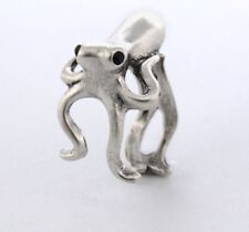 Squid Octopus Animal Ring Adjustable Silver Finger Wrap Ring Size 3 to 6