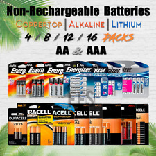 Non Rechargeable Battery 4 8 12 AA/AAA lot Alkaline/Lithium/Coppertop All Packs
