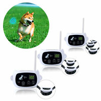Wireless 1-2-3 Dog Fence No Wire Containment System Rechargeable & Waterproof
