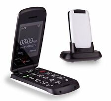TTfone Star Flip Pay as you go Mobile Phone Vodafone White with £10 Credit
