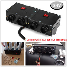 1PC 24V 4-Hole Iron Compact Truck Car Warm Air Heater Heating Defroster Demister