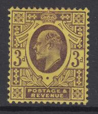 SG 232b 3d Très Violet foncé/jaune orange M19 (-) RARE Hendon Shade av. Comme neuf.