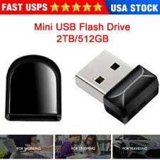 2TB 512GB Mini USB Flash Drive Pen Drive Thumb U Disk Memory Storage PC Laptop