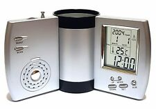 LCD Digitale Sveglia & Radio PORTAPENNE calendario data temperarur UFFICIO