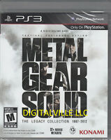 Metal Gear Solid The Legacy Collection PS3 Brand New Sealed PlayStation MGS