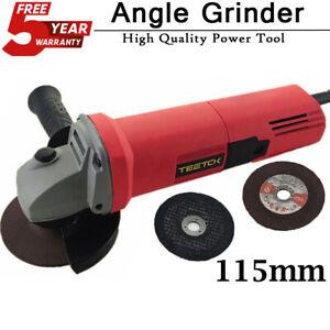 TEETOK 850W  115MM 4.5'' POWER ANGLE GRINDER CUTTING GRINDING 240V SAFE GRIND