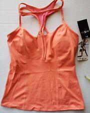Women's Balini Sports *NWT $68 Size M Yoga Wear Strappy Bra Top Junior Orange