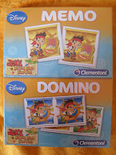 Gioco Carte Memo Domino Clementoni 2 in 1 Disney Jake And The Never Land Pirates
