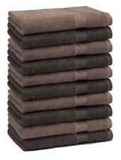 Betz 10er Pack Seiftücher Premium Dunkelbraun & Nuss  30x30 cm  100% Baumwolle