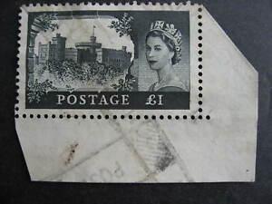 Great Britain QEII Sc 312 rarer watermark used corner margin stamp, see pictures