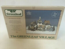 The Greenleaf Village Assembly Kit of 6 Wooden Buildings #8016 1983