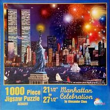 Manhattan Celebration by Alexander Chen NYC Twin Towers 1,000 Pc Puzzle New