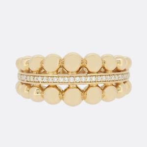 Links Of London 18ct Rose Gold Diamond Effervescence Bubble Ring Size K