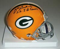 PACKERS Zeke Bratkowski signed mini helmet w/ SB I & II JSA COA AUTO Autographed