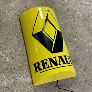 RENAULT LED ILLUMINATED LIGHT UP GARAGE SIGN PETROL GAS OIL AUTOMOBILIA GT TURBO