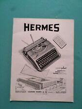 publicités ancienne  HERMES LA MACHINE A ECRIRE     (W5 )