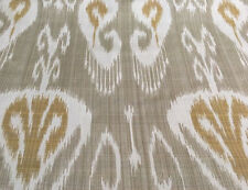 Kravet Couture OUTDOOR Ikat Upholstery Fabric- Magnifikat Gold Dust 1.60 yd