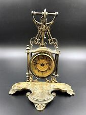 Antique Edwardian Brass Hanging Clock by British United Clock Co. Ltd  C.1901