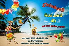 10 Einladungskarten Sommer Strand Party Geburtstag Einladungen JEDES ALTER