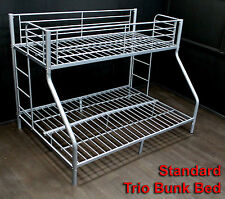 TRIO BUNK BED SILVER GREY