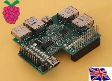 RS-Pi 7 Ports USB Hub & I2C 23017 s'après x 1 fonction GPIO 16bits Board for Raspberry Pi
