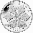 Canada 2012 Crystal Single Holiday Snowflake $20 Pure Silver Proof w/ Swarovski