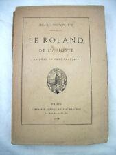 Le Roland de l'Arioste Marc Monnier Paris 1878 Libro Francese
