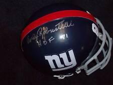 Andy Robustelli signed TB Giants mini Helmet, JSA