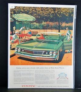Car Ad Vintage Automobile Auto SEP Pontiac 1960 Bonneville Vista Wide-Track V-8