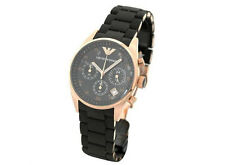 Emporio Armani AR5906 ladies/women/girl chrono watch,,.round dial black strap