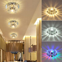 1x Crystal LED 3W/5W Ceiling Light Fixture Pendant Lamp Lighting Chandelier