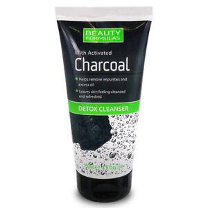 Beauty Formulas Charcoal DETOX CLEANSER Mask Face Blackhead Remover 150ml UK