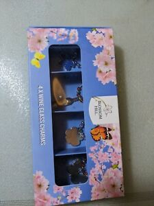 Blossom Hill 4x Wine Glass Charms ref134