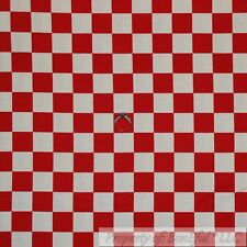 BonEful Fabric Cotton Quilt Red White Gingham Check Stripe Country Cottage SCRAP